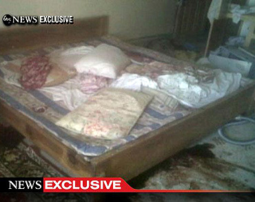 This video frame grab, obtained from ABC News, shows the interior bedroom in the mansion where bin Laden was killed