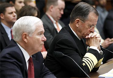 US Secretary of Defense Robert Gates  and Chairman of the Joint Chiefs of Staff Admiral Mike Mullen