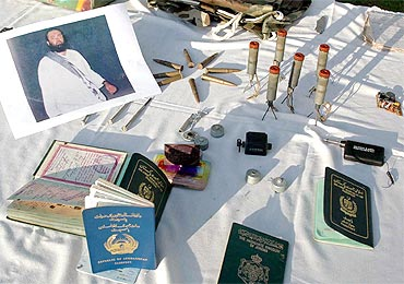 Some of the items recovered from a house in Peshawar, believed to be a warehouse of Haqqani network