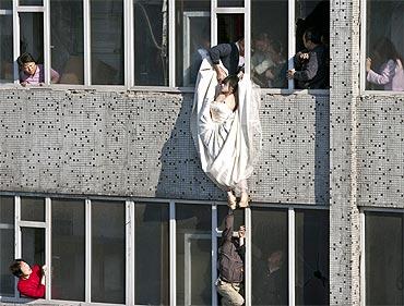 Jilted bride in high-voltage suicide drama