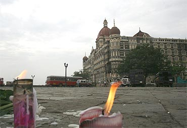 Remembering the victims of 26/11 near Taj Mahal Hotel, one of the sites of the attack