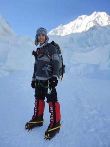 Arjun Vajpai on his way to the peak
