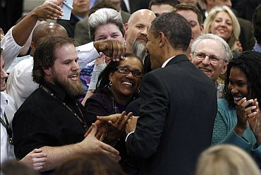 Obama greets CIA employees