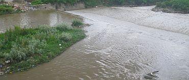 The Bagmati river in spate