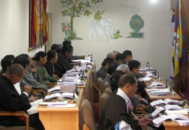 Parliamentarians of Tibet's government-in-exile in session in Dharamshala