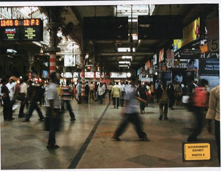 An exhibit by the US attorney's office in the ongoing trial of Tahawwur Rana in a Chicago court shows a picture of a crowded Chhattrapati Shivaji terminus in Mumbai (site of 26/11 strikes) that was in David Headley's possession