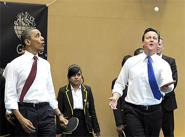 British school students take on Obama, Cameron