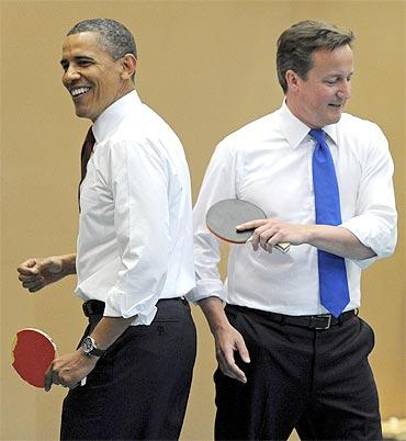 British school students take on Obama, Cameron
