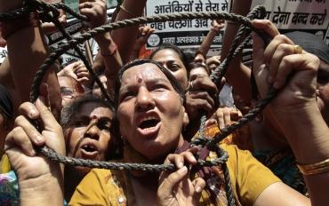 BJP activists demand the execution of Afzal Guru