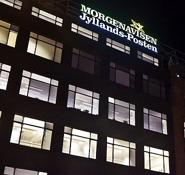 Office of the Jyllands-Posten daily, which published controversial cartoons on Prophet Mohammed
