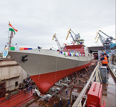 Indian Navy's new stealth frigate launched
