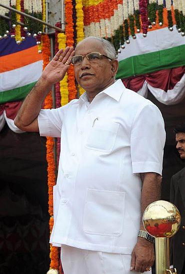Chief Minister B S Yeddyurappa