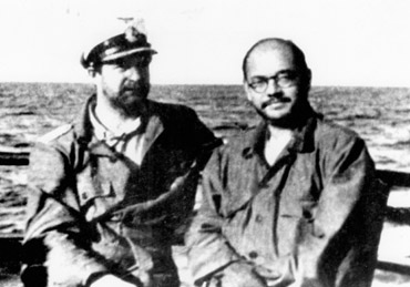Netaji with Captain Mausenberg, with whom he made a submarine voyage from Europe to Asia in 1943