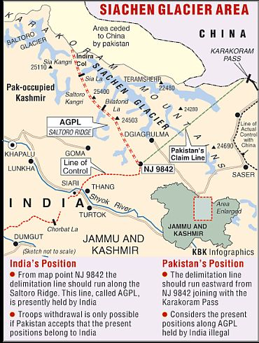 India, Pak discuss demilitarisation of Siachen