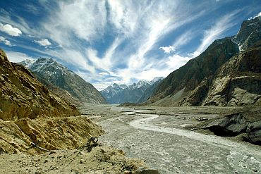 A view of the Siachen glacier