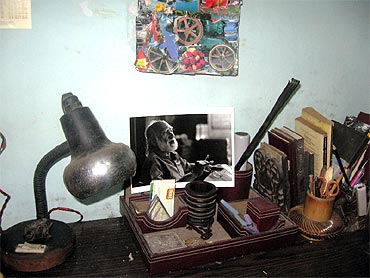 Badal Sircar's desk at which he wrote his plays