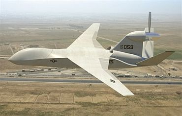 A Lockheed Martin unmanned aerial vehicle