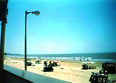 A view of Juhu beach from Sea View