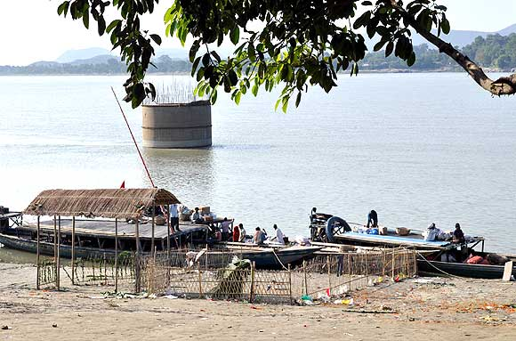 Fancy bazaar Ghat along the Brahmaputra