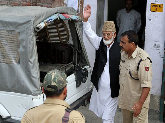 All Party Hurriyat Conference chief Syed Ali Shah Geelani