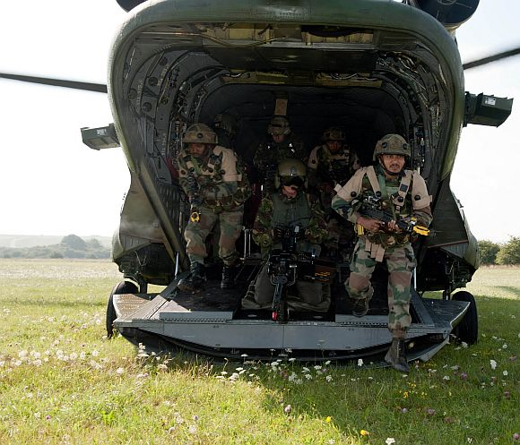 File photo of an Indo-US military exercise