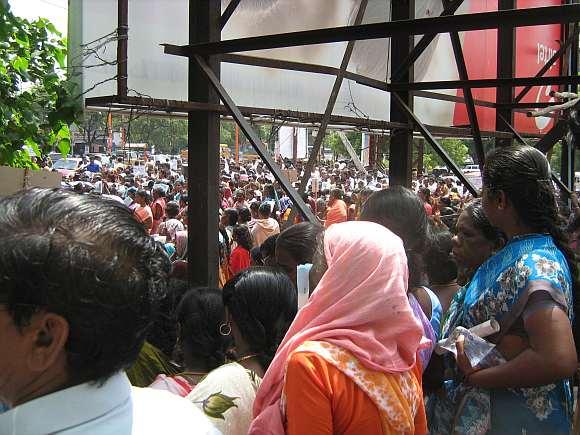 Supporters at Tirunelveli