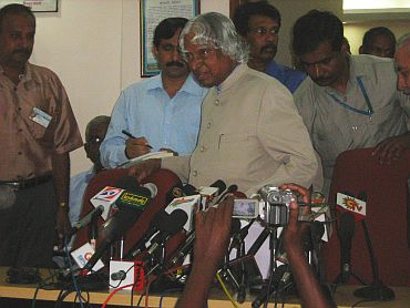 Don't listen to disturbing elements, Dr Kalam said at the media interaction