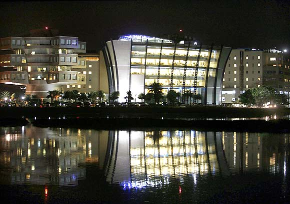 A view of Bhagmane Tech Park in Bengaluru