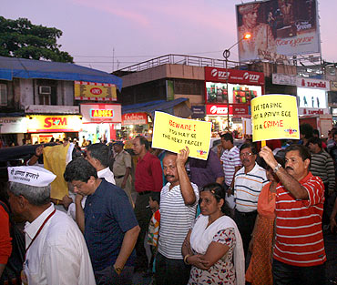 A rally to protest the murders of Keenan and Reuben