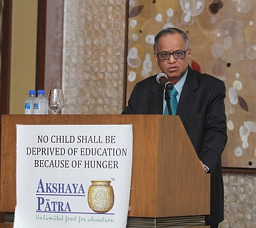 Narayana Murthy at the fundraiser in New York