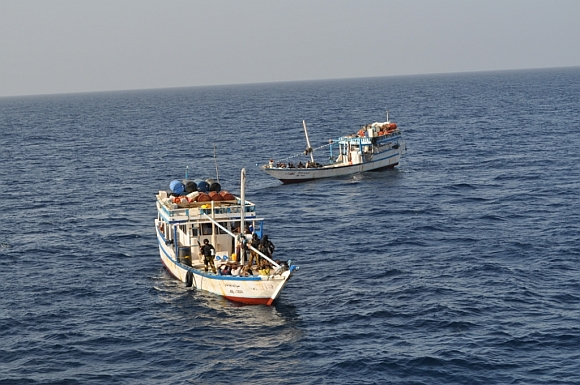 Thursday's was the fifth piracy attempt foiled by the Navy