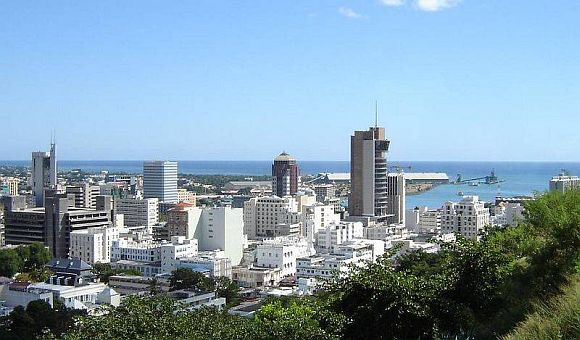 A view of  Port Louis, capital of Mauritius