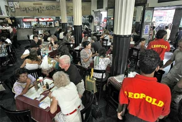 Leopold Cafe, Mumbai's landmark, reopened its shutters soon after