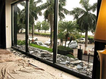 A file photo of the terror-hit lobby of Mumbai's Trident-Oberoi hotel