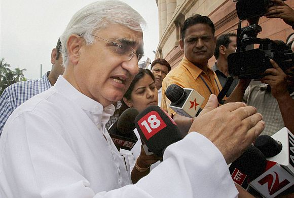 Union Law Minister Salman Khurshid