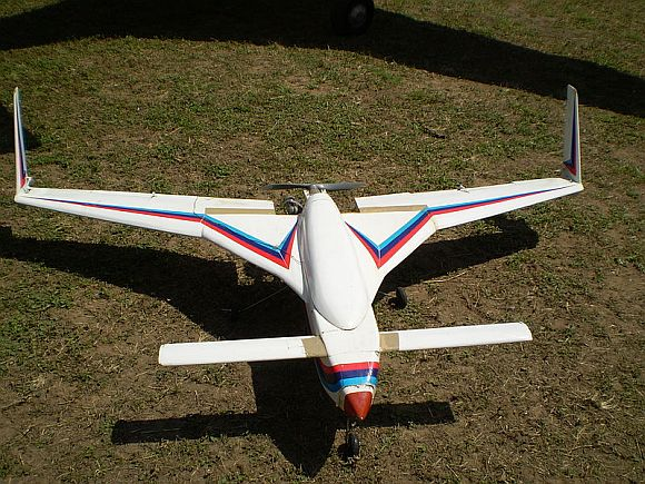A remote controlled model of the Rustom UAV