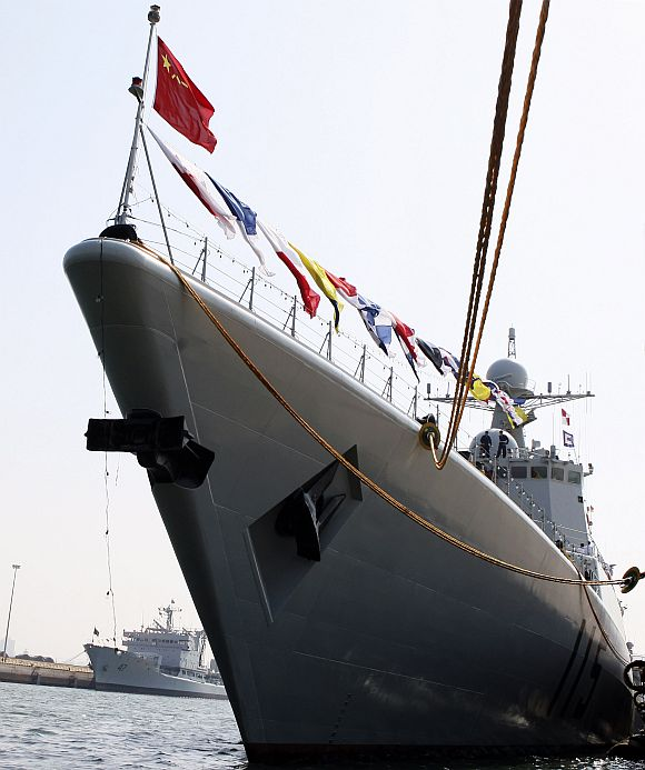 File picture of Chinese navy's missile destroyer Shenyang