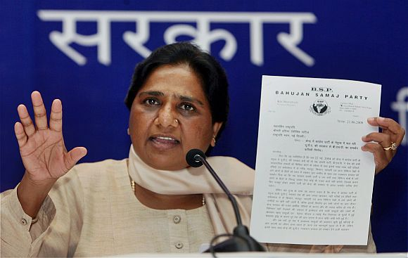 Now Mayawati wants to split UP into 4 new states