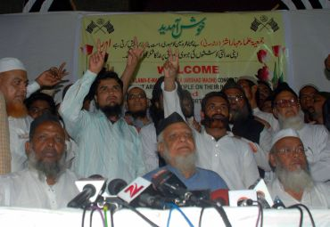 Malegaon accused at a press conference organised by Jamiat Ulama-e-Maharashtra