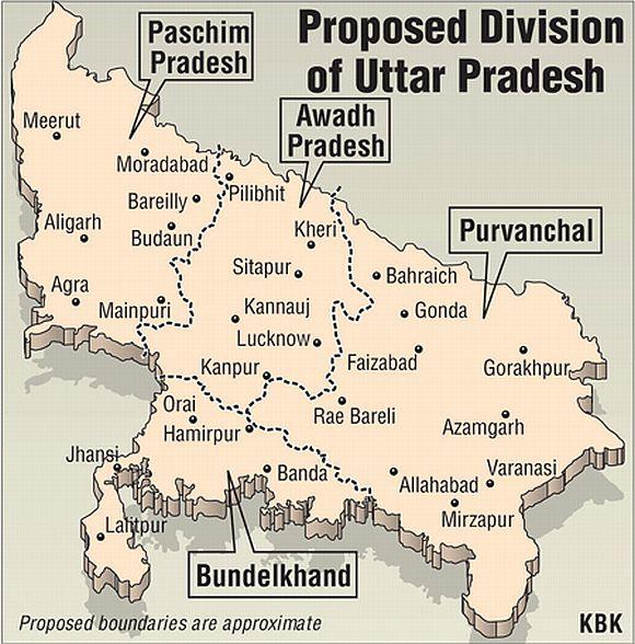 Now Mayawati wants to split UP into 4 new states