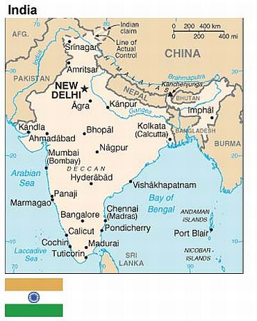 Pok Issue Get Your Map Corrected India Tells Us Rediffcom India - India-us-map