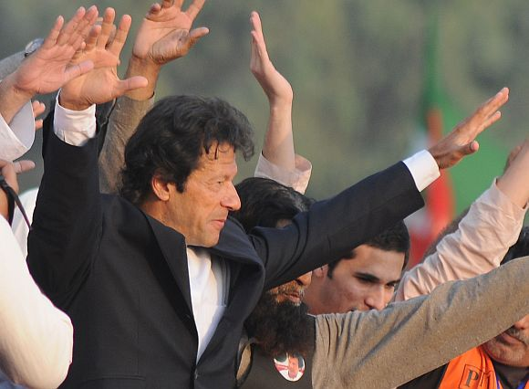 Pakistan's cricketer-turned-politician Imran Khan