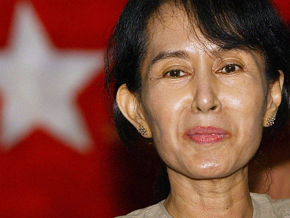 File photo of dissident leader Aung San Suu Kyi
