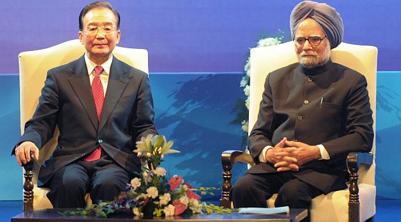 File photo of Dr Singh with his Chinese counterpart Wen Jiabao
