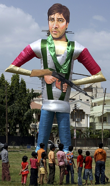 An effigy of Pakistani terrorist Ajmal Kasab