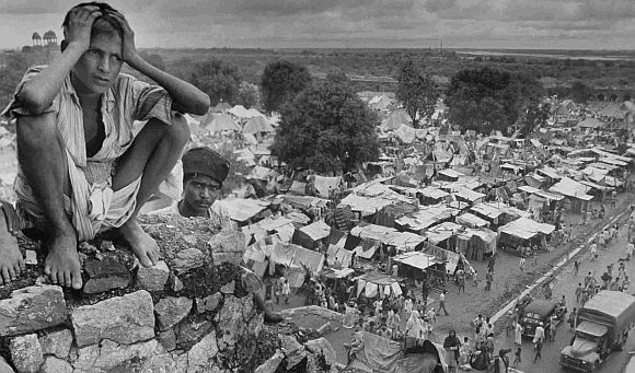File photo of a refugee camp on the outskirts of Delhi