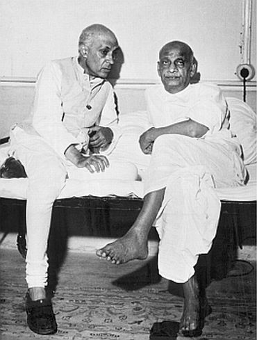 Nehru with Sardar Patel