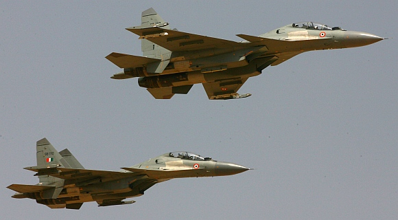 The Indian Air Force's Russian-made Sukhoi-30 aircraft