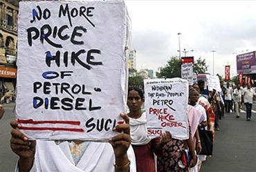 A rally against fuel price rise