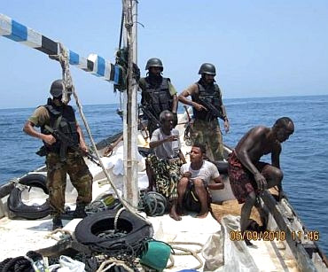 A file photo of Navy commandos with Somali pirates